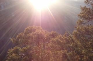 Strahlende Sonne als Sinnbild für Utopia
